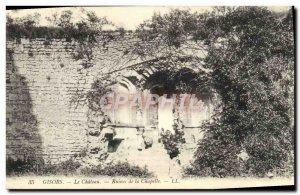 Old Postcard Gisors The Chateau Chapel Ruins