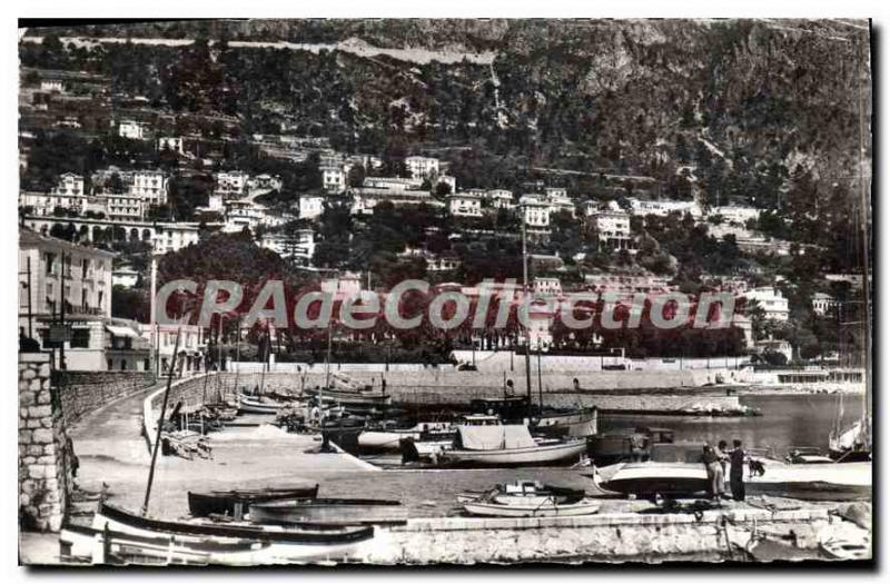 Old Postcard Beaulieu sur mer M Port