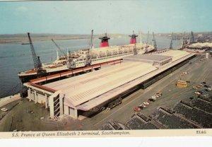 S.S. France at Southampton , UK , 1950s