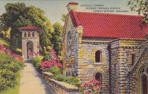 Catholic Church Entered Through Steeple Eureka Springs Arkansas