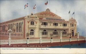 Revere Beach MA Wonderland Grand Ballroom c1905 Postcard