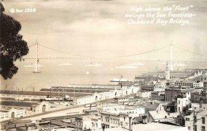 RPPC San Francisco-Oakland Bay Bridge Fleet Zan Photo #1328 Vintage Postcard