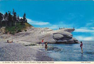 Canada Le Rocher Le Quai Parc National Forillon Gaspe Quebec
