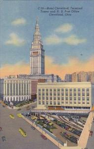 Ohio Cleveland Hotel Cleveland Terminal Tower And U S Post Office