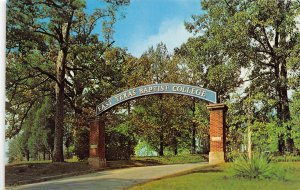 Marshall Texas 1960s Postcard Gate Entrance To East Texas Baptist College