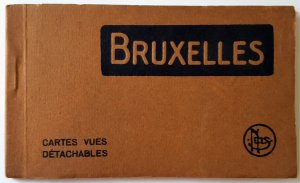 VINTAGE 10 POSTCARDS ALBUM OF BRUSSELS. Printer: Nels. UNUSED!!!