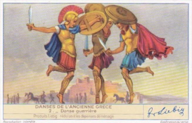 Liebig S1439 Ancient Greek Dances No 2 Danse Guerriere