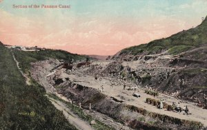 PANAMA CANAL, 1900-1910s; Section Of The Panama Canal