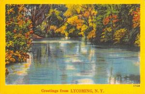 Lycoming New York Scenic Waterfront Greeting Antique Postcard K95140