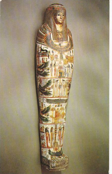 Cartonnage Case For The Mummy Of Djed-Maat-es-ankh, Chantress Of Amen-Re, Egy...