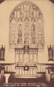 Pennsylvania Philadelphia Altar Mount Carmel Methodist Church Artvue