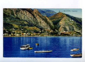 235739 FRANCE MENTON Caravan yachts Vintage postcard