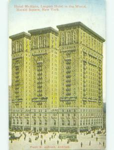 Divided Back MCALPIN HOTEL New York City NY HQ4999