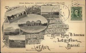 EARLY Rangeley ME Multi-View 1898 Private Mailing Card/Postcard