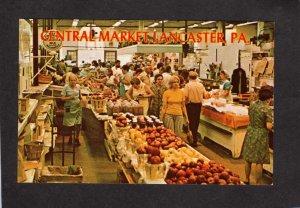 PA Farmer's Central Market Farming Lancaster Pennsylvania Postcard Apples