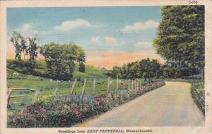 Greetings From East Pepperell Massachusetts 1941