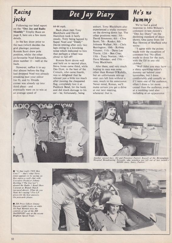 1973 Radio 1 Roadshow Manchester Dave Cash Andy Archer Caroline Magazine