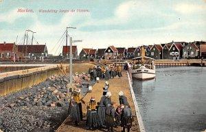 Wandeling langs de Haven Marken Holland Unused