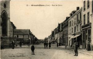 CPA GRANDVILLIERS Rue de Calais (377150)