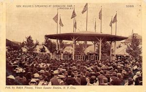 Syracuse NY Governor Speaks @ State Fair~Olds Engines Sign~Politcal Hats 1910