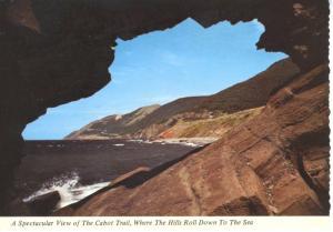 View From Cabot Trail Cape Breton NS Nova Scotia Vintage Postcard D9