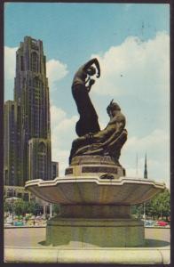 Mary E Schenley Statue,Philadelphia,PA Postcard BIN