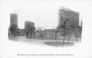 Columbus Ohio Dispatch~Skyscraper Construction~Corner Broad & High Streets~1905