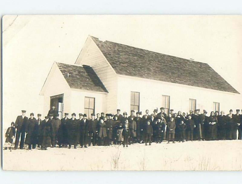Pre-1918 rppc UNKNOWN TOWN CHURCH Marked As Province Of Saskatchewan SK HM4267