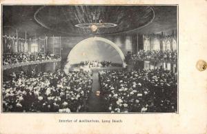 Long Beach California Auditorium Interior Antique Postcard K107082