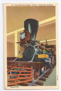 Steam Engine Texas Cyclorama Grant Park Atlanta GA Postcard