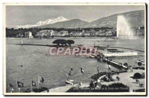 Old Postcard Geneve La Rade and Jetee des Paquis