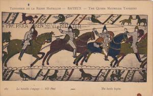 Bayeaux Queen Mathilda Tapestry The Battle Begins