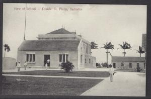 Barbados Dodds: St Philip School Siefert b/w c.1910 PPC