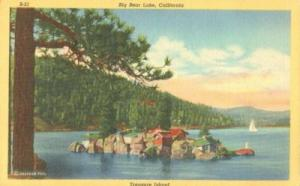 Big Bear Lake, California, Treasure Island, 1947 used Pos...