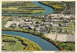 Aerial View, The Univeristy of Manitoba, Fort Garry Campus, Winnipeg, Manitob...