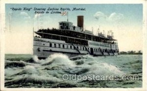Rapid King, Shooting Lachine Rapids, Montreal Canada, Steamer Ship 1925 close...