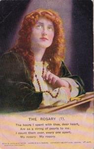 Bamforth Beautiful Woman Praying The Rosary No 1