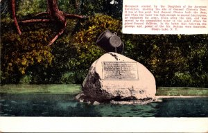 New York Otsego Lake Monument Showing Site Of General Clinton's Dam
