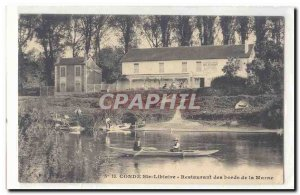 Conde Ste libiaire Old Postcard Restaurant of the banks of the Marne