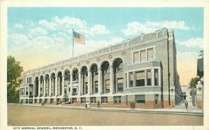 City Normal School Rochester New York Flag 1920s Postcard 20-3582