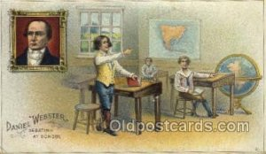 Daniel Webster, Debating at School Famous People 1913 light wear postal used ...