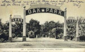 Entrance to Oak Park