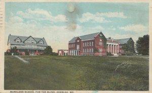 OVERLEA , Maryland, 1924; Maryland School for the Blind