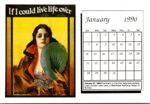 1990 Sheet Music Calendar Series January If I Could Live Life Over
