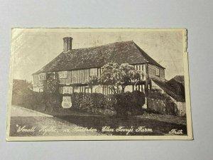 POSTED VINTAGE POSTCARD - ELLEN TERRY'S FARM SMALL HYTHE TENTERDEN KENT (KK240)