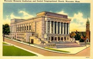 MA - Worcester. Memorial Auditorium & Central Congregational Church
