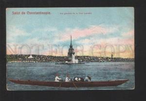 076934 TURKEY Salut de Constantinople Tour-Leandre Vintage PC