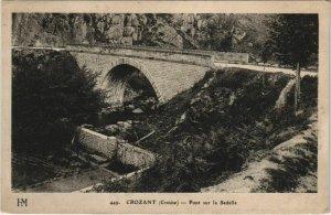 CPA CROZANT Pont sur la Sedelle (1144433)
