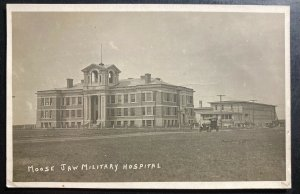 Mint Canada Real Picture Postcard Moose Jaw Military Hospital