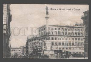 089671 ITALY Grand Hotel d'Europe Rome & advertising on back